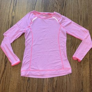 Lucy Tech Activewear Striped Long Sleeve Top